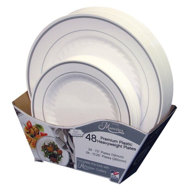 awesome Sams Plastic Plates Part - 3: Samu0027s Club - Masterpiece Premium Plastic Heavyweight Plates (48 ct. Combo  pk.)