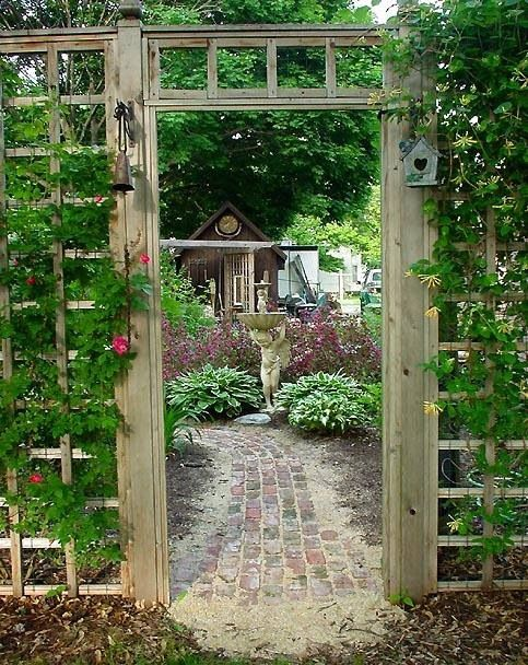 Love this entrance flowers gardens ideas i love - Grillstelle garten ...