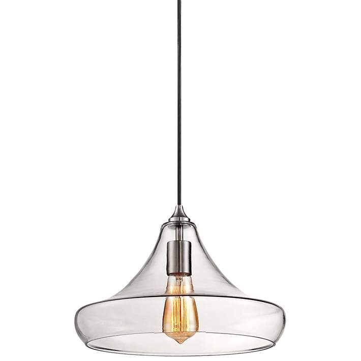 Urban contemporary 13 1 4 wide clear glass pendant light