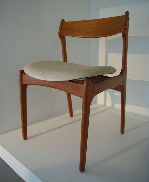 Stuhl von erich buck teak 50er jahre mid century for Stuhl skandinavisches design