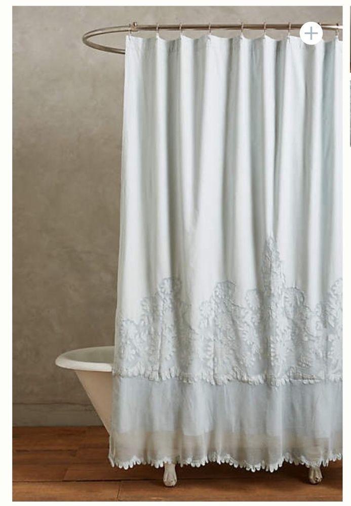 Anthropologie Sissonne Shower Curtain Ret 248 In Home Garden Bath Curtains
