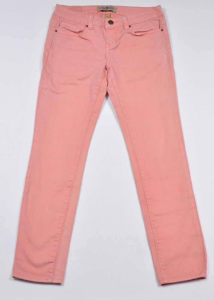 Women's Iris skinny slim Junior Denim Jeans size 7 Color Light Salmon  #IrishJeans #RelaxedSlimSkinny