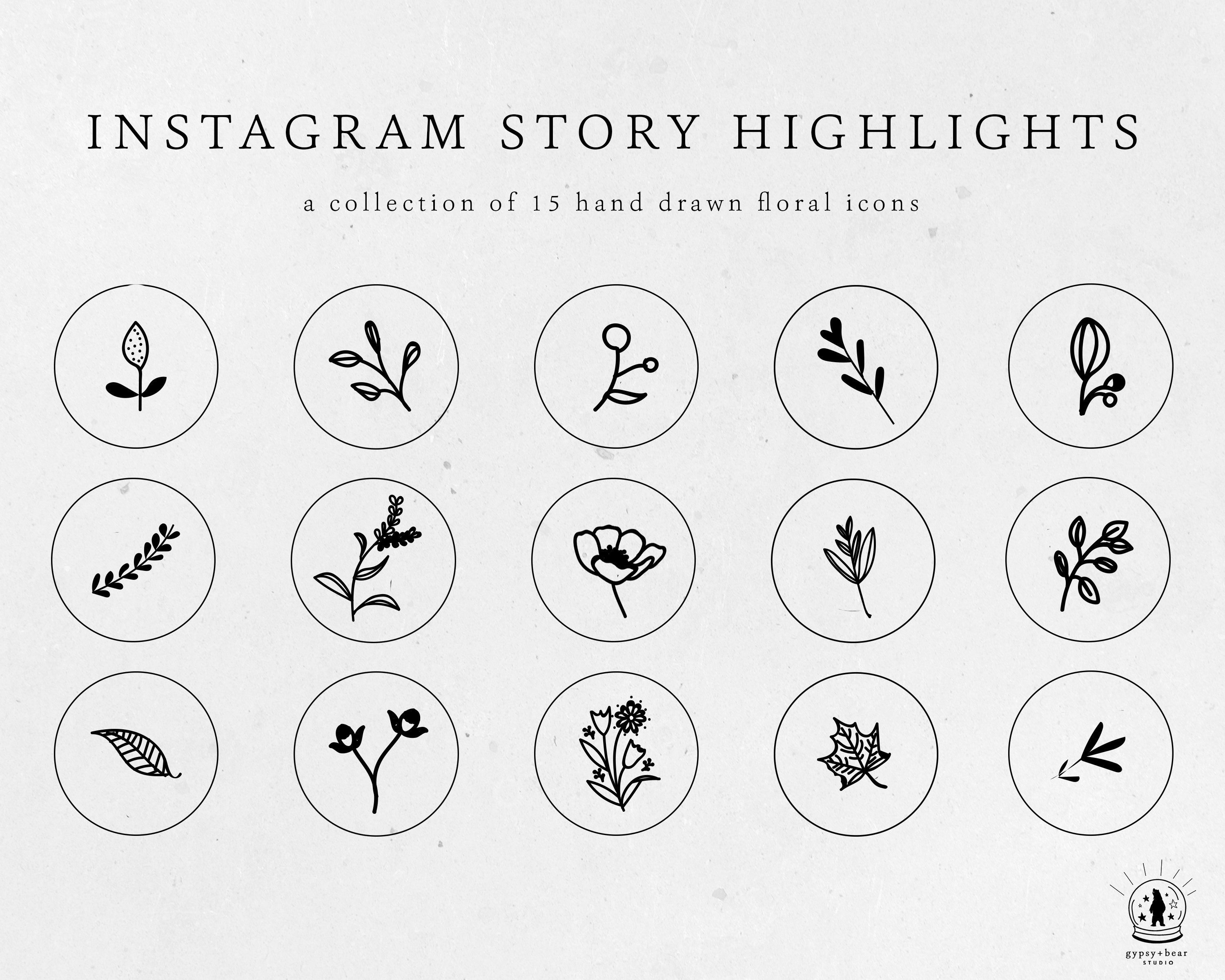 Highlight Covers Instagram Stories Highlights Botanical Hand Drawn Icons Insta Story Highlights Instagram Story Highlight Icons BOTANICAL