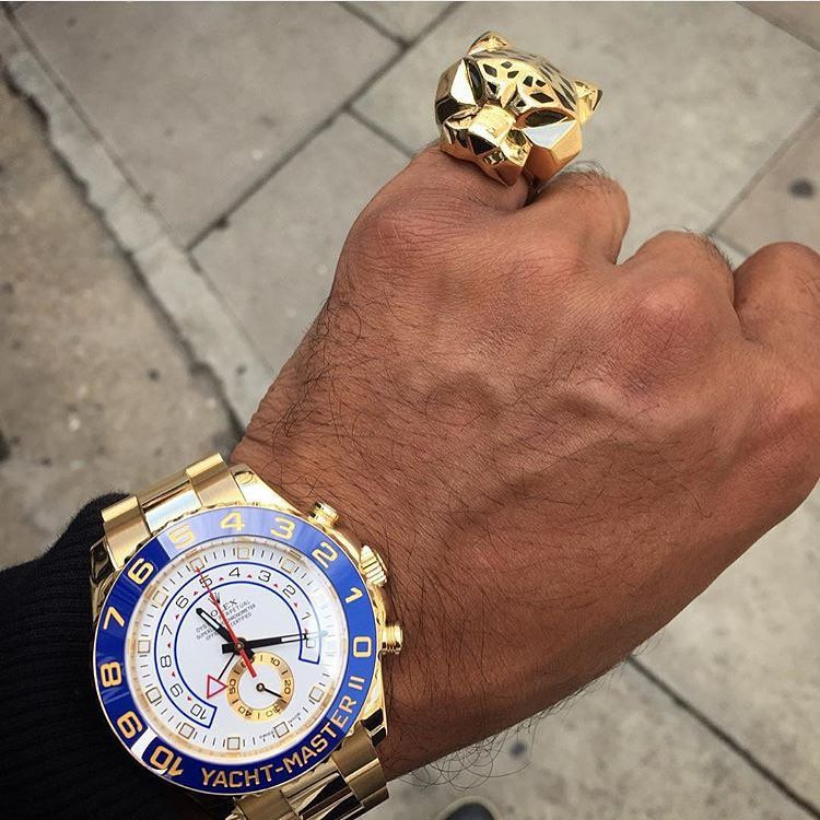 18k Yacht-Master x Panthere de Cartier Ring