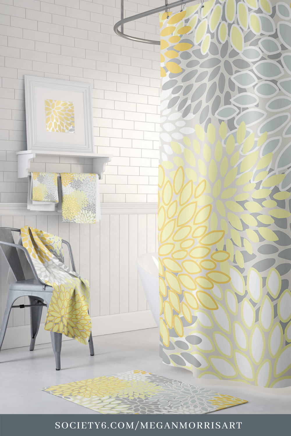 Bathroom Sets Shower Curtains Rugs And Towels Yellow And Gray