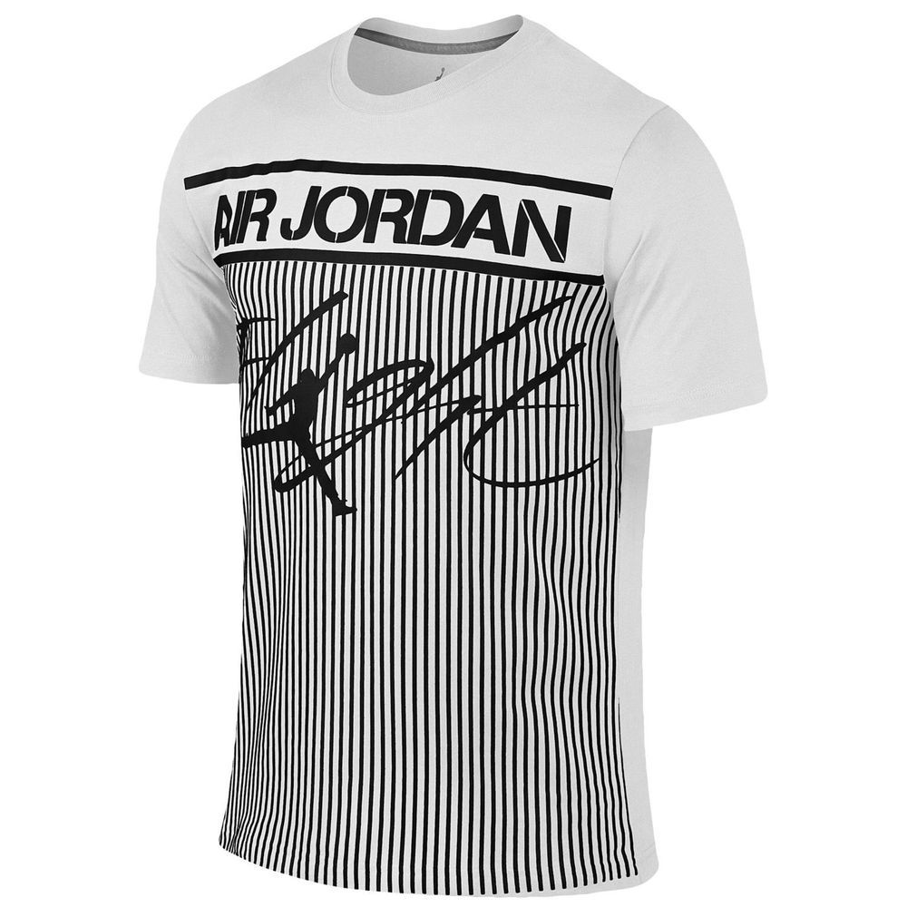 Jordan Flight Men's T-Shirts Black/White