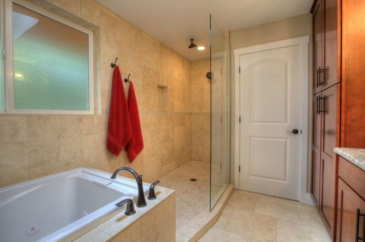 connected showers and tubs | Bathroom. Interesting shower and tub ...