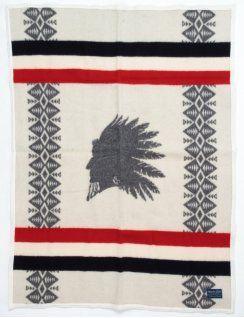 Pendleton Heroic Chief Blanket - Cream