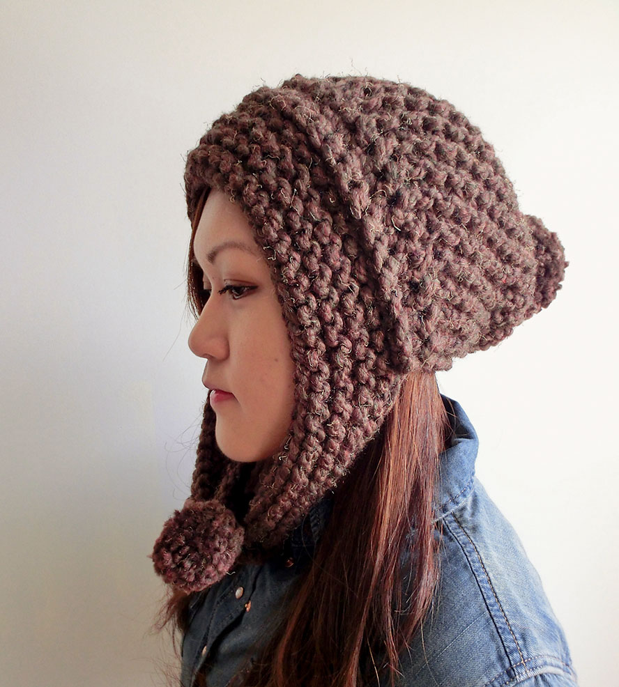 Pompom Hat with Ear Flaps | Pinterest | Pom pom hat, Knit hats and ...