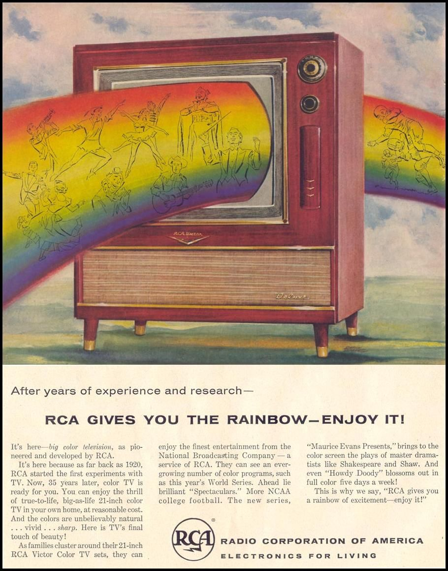 RCA VICTOR COLOR TELEVISION LIFE 1955 | Early colour