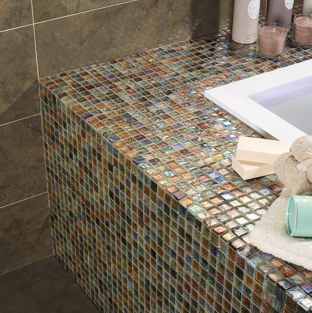 - Argus. Mosaico Multicolor. Glass Mosaic Tile Backsplash, Glass