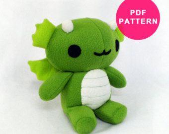 Dragon Sewing Pattern Plush Toy Stuffed Animal Pdf Plushie Patterns Stuffed Toys Patterns Plush Pattern