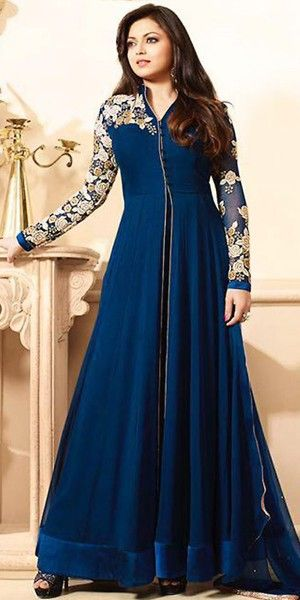 Other Women's Clothing Humorous Bollywood Blue Anarkali Salwar Kameez Indian Pakistani Gown Long Designer Suit A Great Variety Of Models