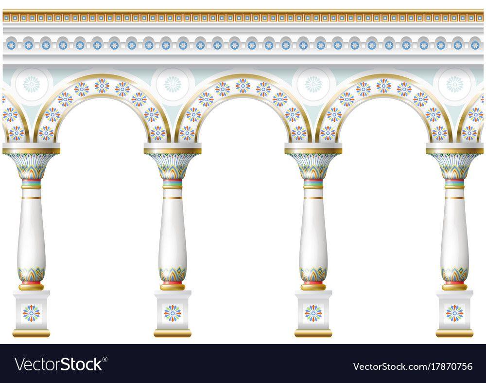 Facade With Ornament Vector Image On Vector Images Islamic Art Facade
