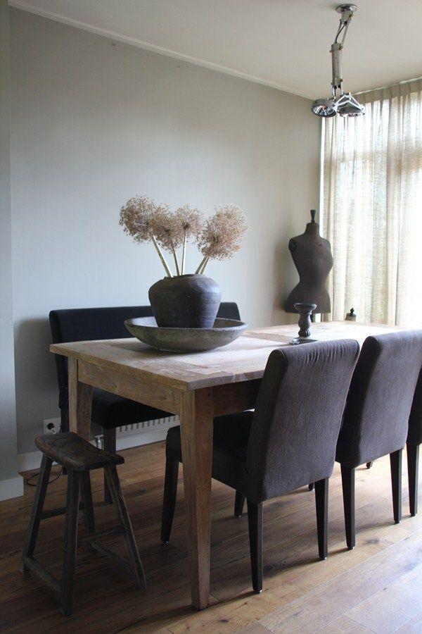 Landelijk stoere eethoek house interior in 2019 for Eettafel stoelen landelijk