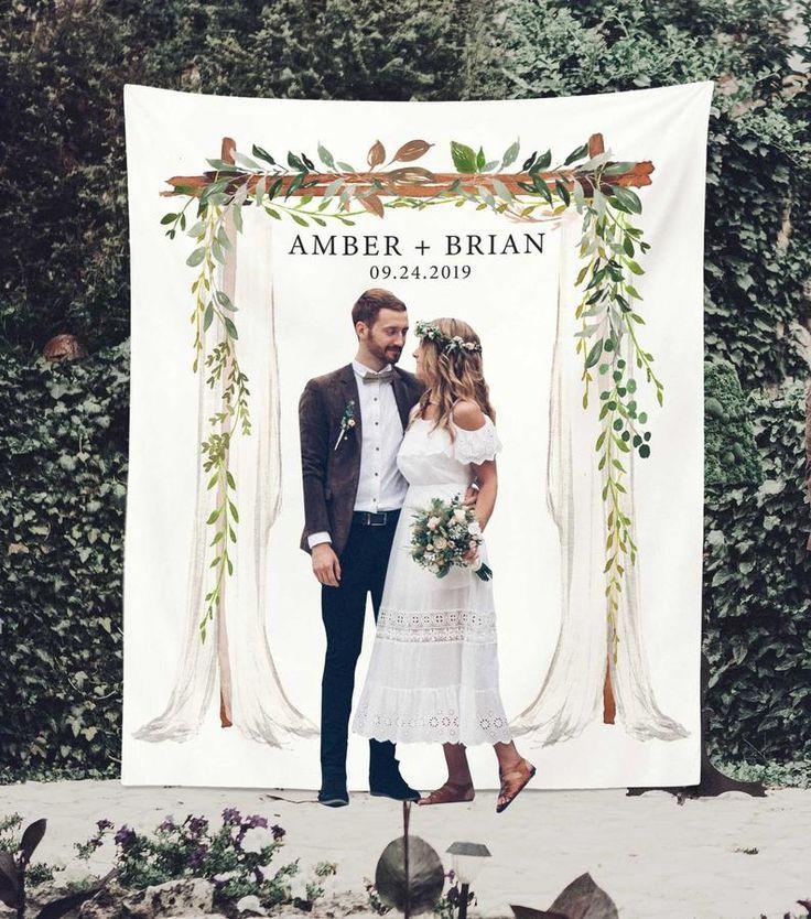 Greenery Wedding Backdrop For Reception