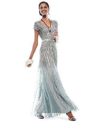 The Dress Diaries Cap Sleeve Beaded Formal Dress Look Women Macys Formal Dresses Dresses Cocktail Dress Code