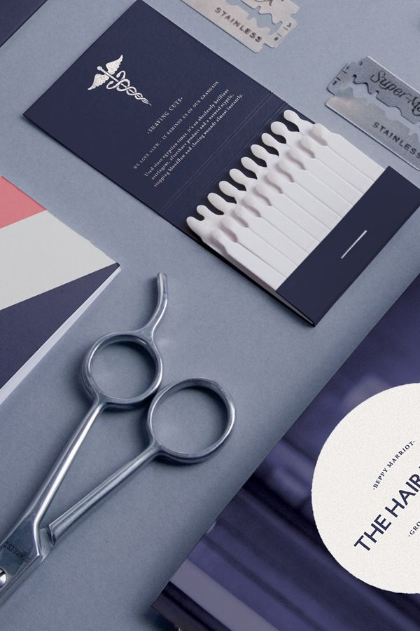 Love this  The Hair Tailor by Pete Gardner, via Behance