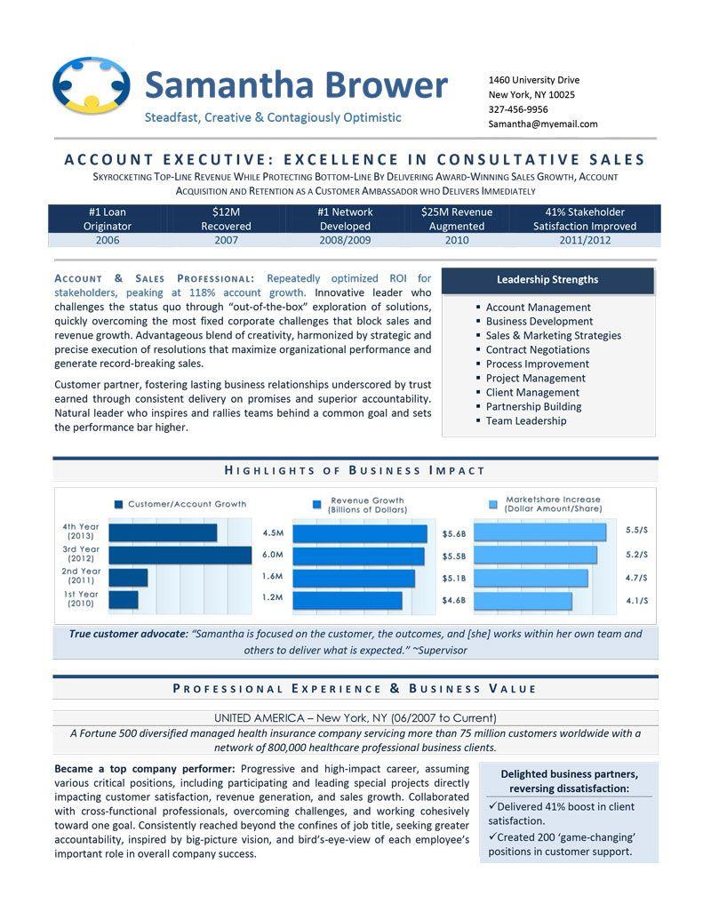 Sales Executive Resume writing services, Executive