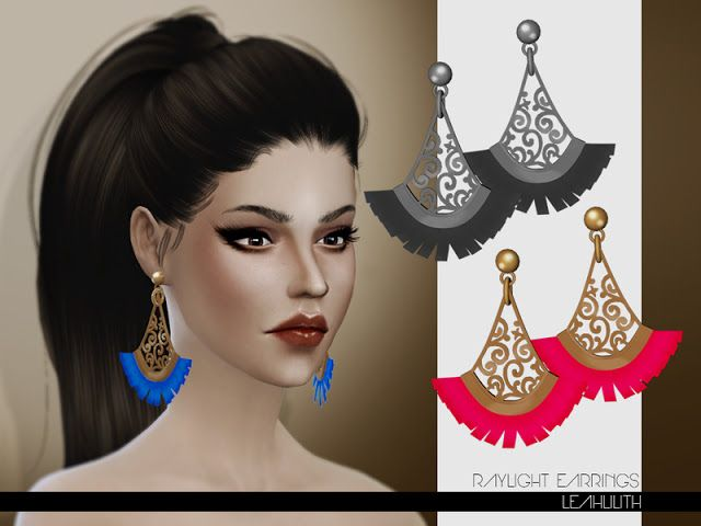 Sims 4 CC's - The Best: Earrings by Leah Lillith