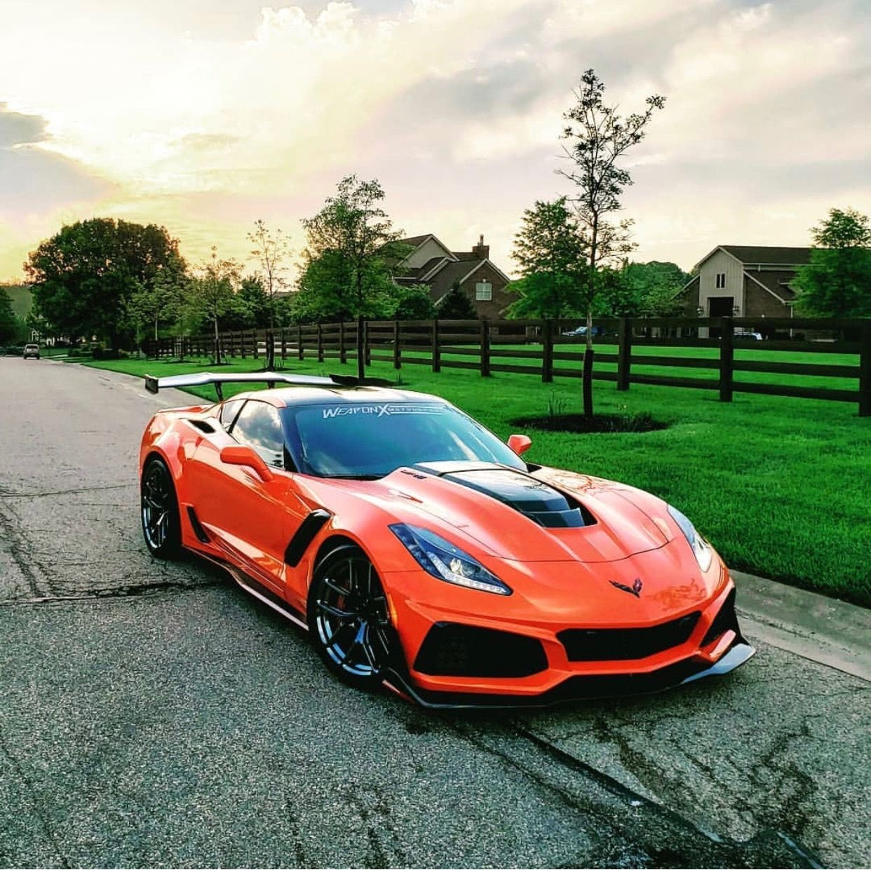 Chevrolet Corvette C7 Zr1 Painted In Sebring Orange W A Set Of