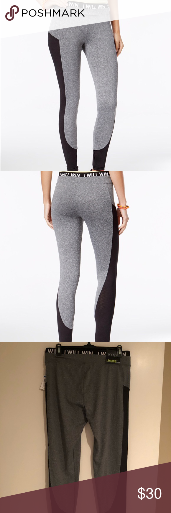 Energie Lola Mesh Leggings Grey/BlackXL Mesh leggings