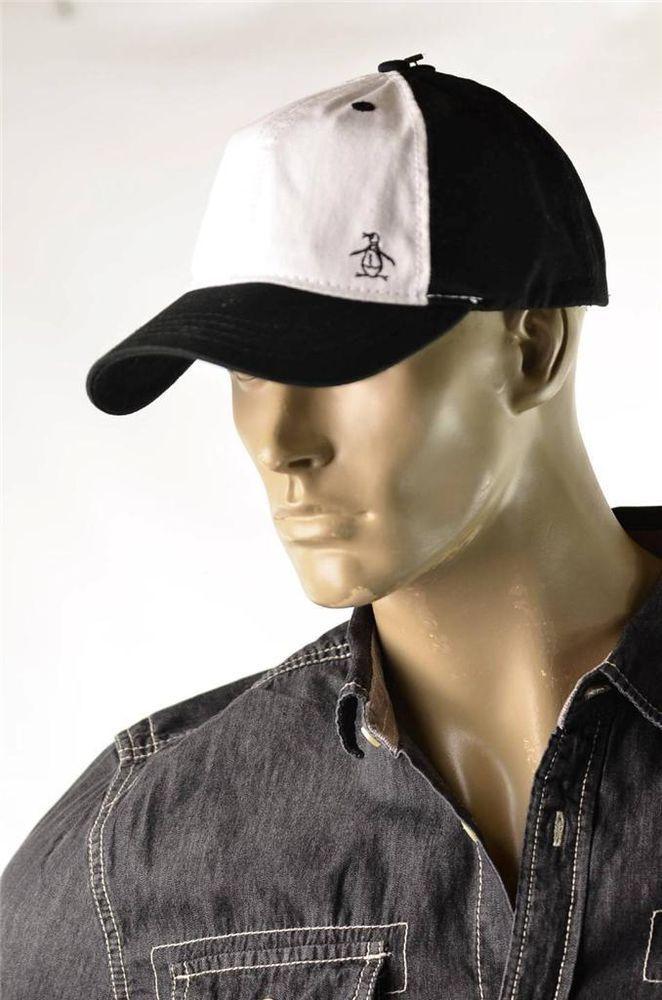Penguin Munsingwear Hat Mens White Black Baseball Cap Trucker Hats Sz OSFA  New  Penguin  BaseballCap 3057b073fc6