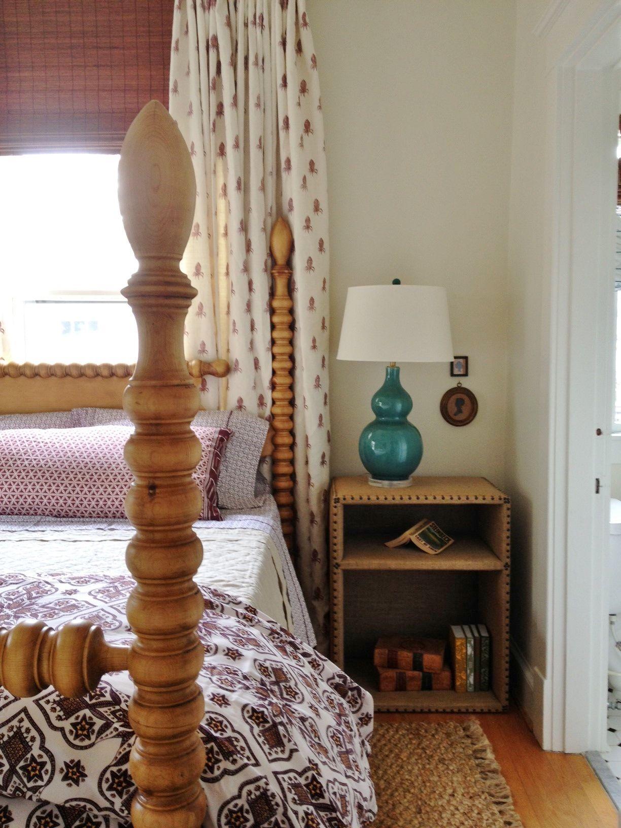 Lauren Liess Pure Style Home Burlap Nightstand
