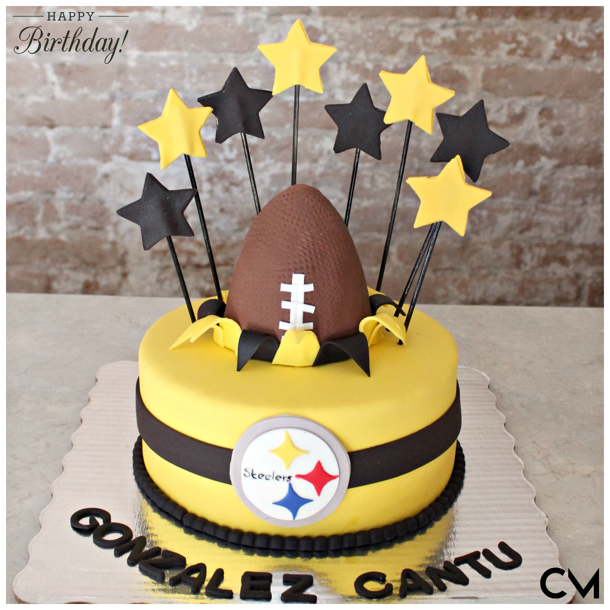 Astonishing Nfl Party Nfl Fondant Cakes 3D Cakes Pittsburgh Steelers Funny Birthday Cards Online Alyptdamsfinfo