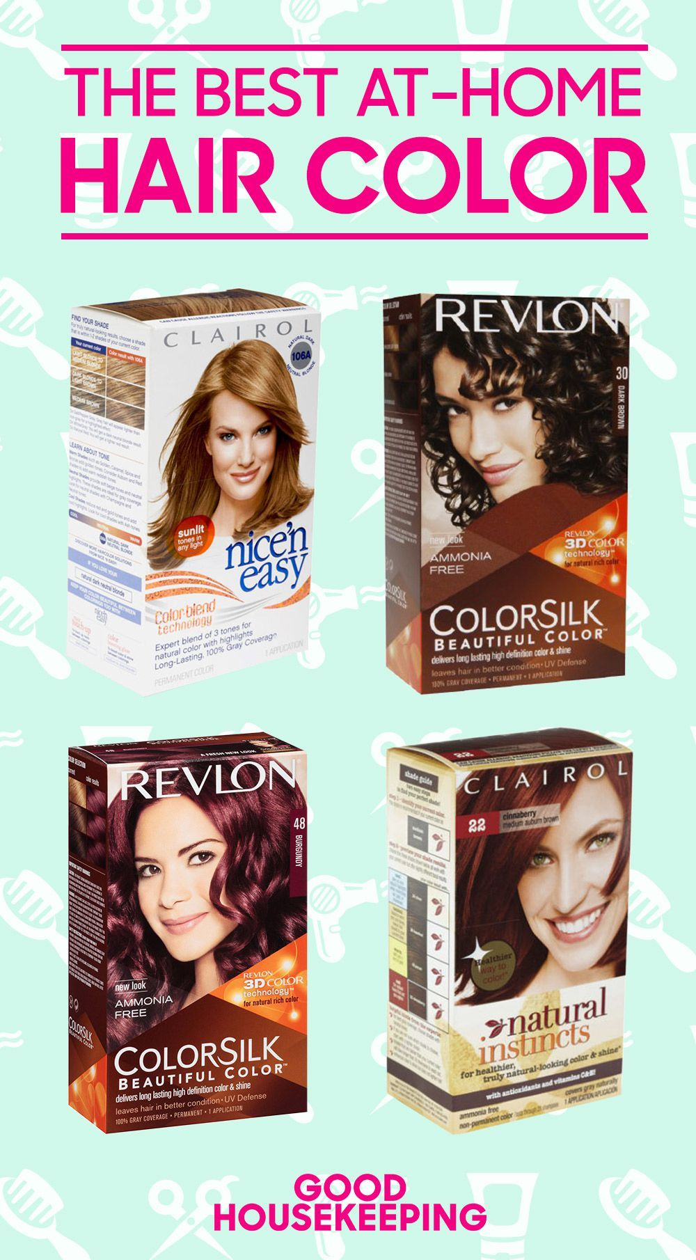10 Best At Home Hair Dyes That Won T Ruin Your Hair At Home Hair Color Boxed Hair Color Hair Color Brands