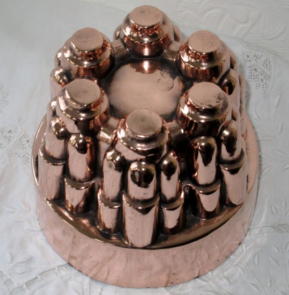 Antique English Victorian Copper Jelly Mould 400614