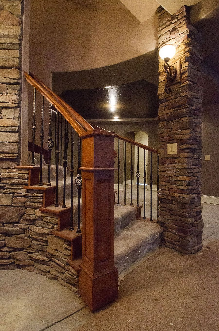 basement stairway lighting. images of basements with stone walls astonishing basement stairs design veneer pillar stairway lighting