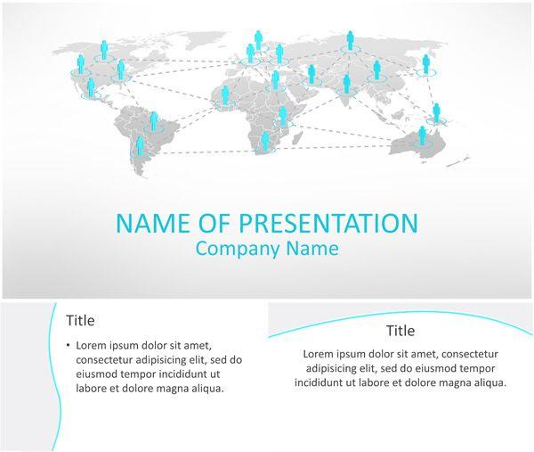 business network powerpoint template | business powerpoint, Modern powerpoint