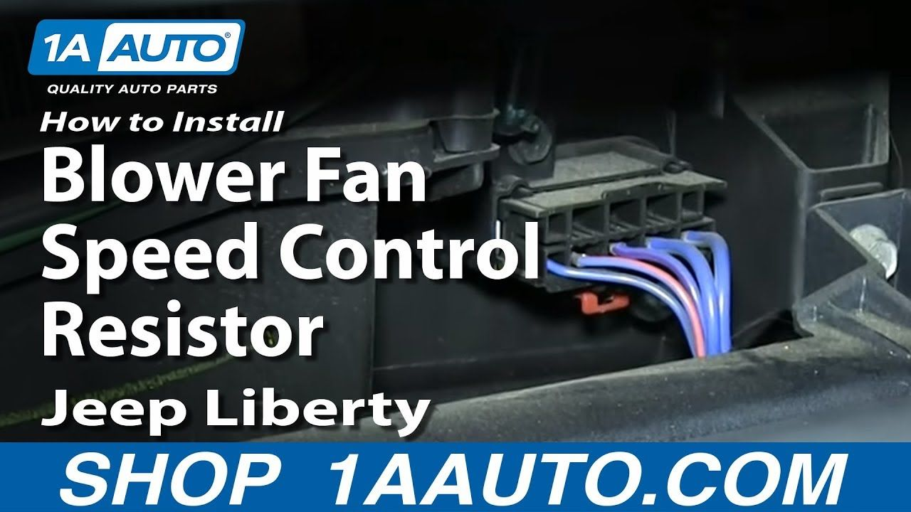 How to Replace Blower Motor Resistor 0207 Jeep Liberty