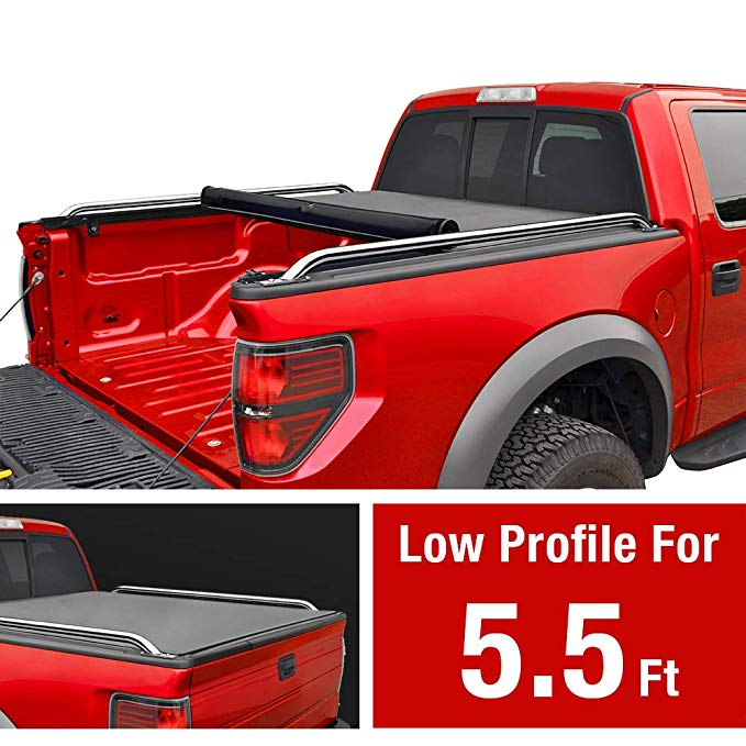 Amazon Com Maxmate Low Profile Soft Roll Up Truck Bed Tonneau Cover For 2007 2020 Toyota Tundra Fleetside 5 5 Bed Tonneau Cover Truck Bed Truck Bed Covers