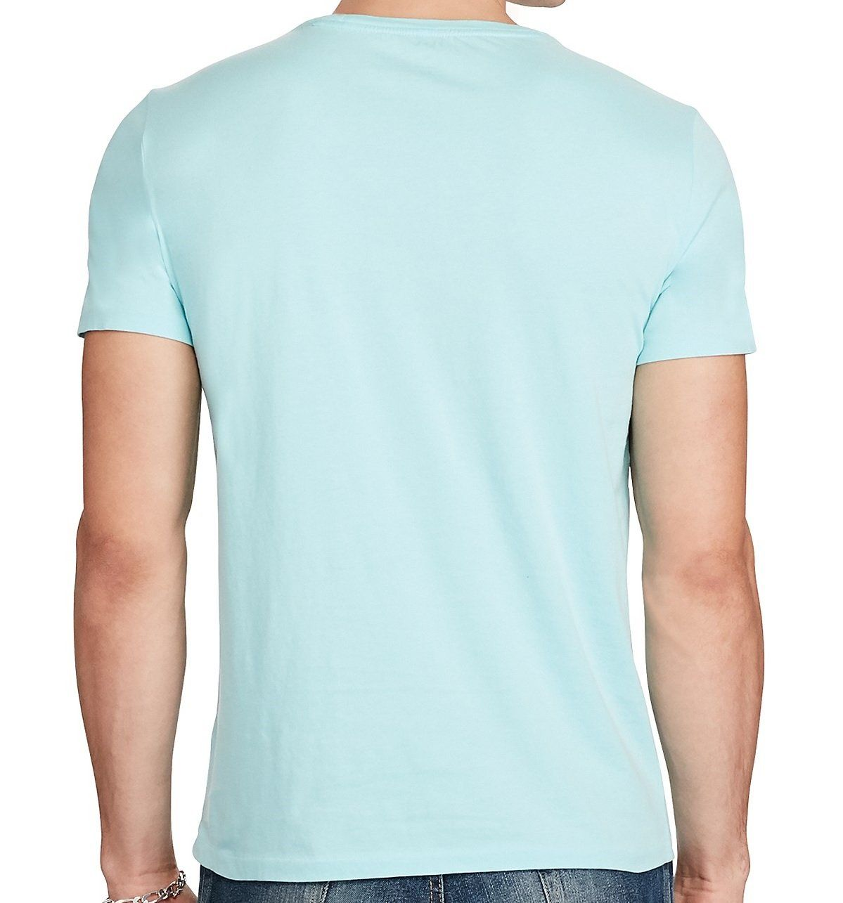 Polo Ralph Lauren Mens Cotton Jersey Pony Logo Crewneck Pocket Tee TShirt Small True Aqua -- To view further for this item, visit the image link. (This is an affiliate link) #RalphLaurenPoloShirts