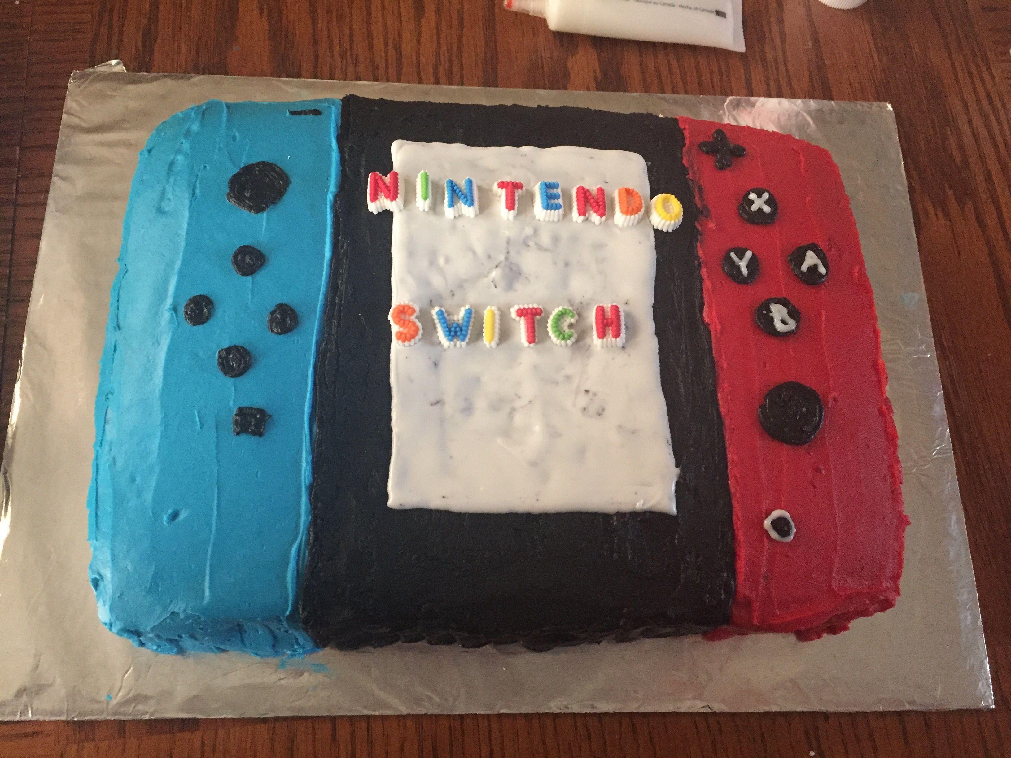 Nintendo switch Console Cake | Party planning | Pinterest | Geburtstage