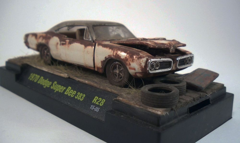 1970 Dodge Super Bee 383 Custom Weathered Barn Find Unrestored 1/64