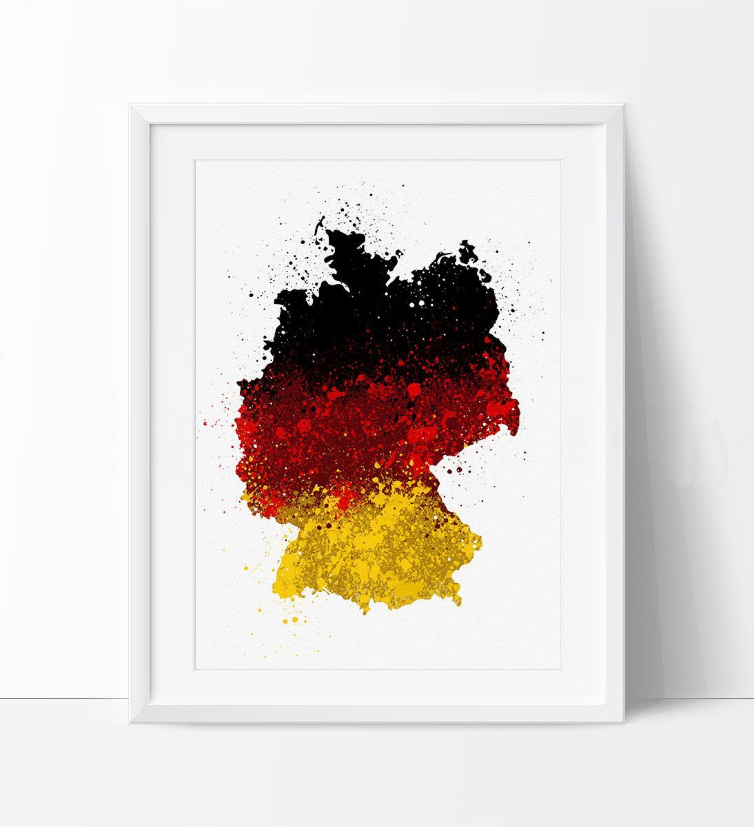 germany map art watercolor map germany art germany map watercolor print