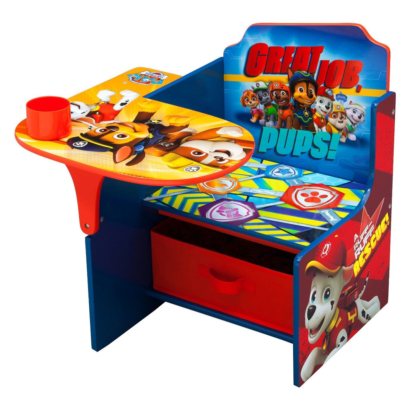 Nick jr paw patrol chair desk with storage bin paw patrol nick