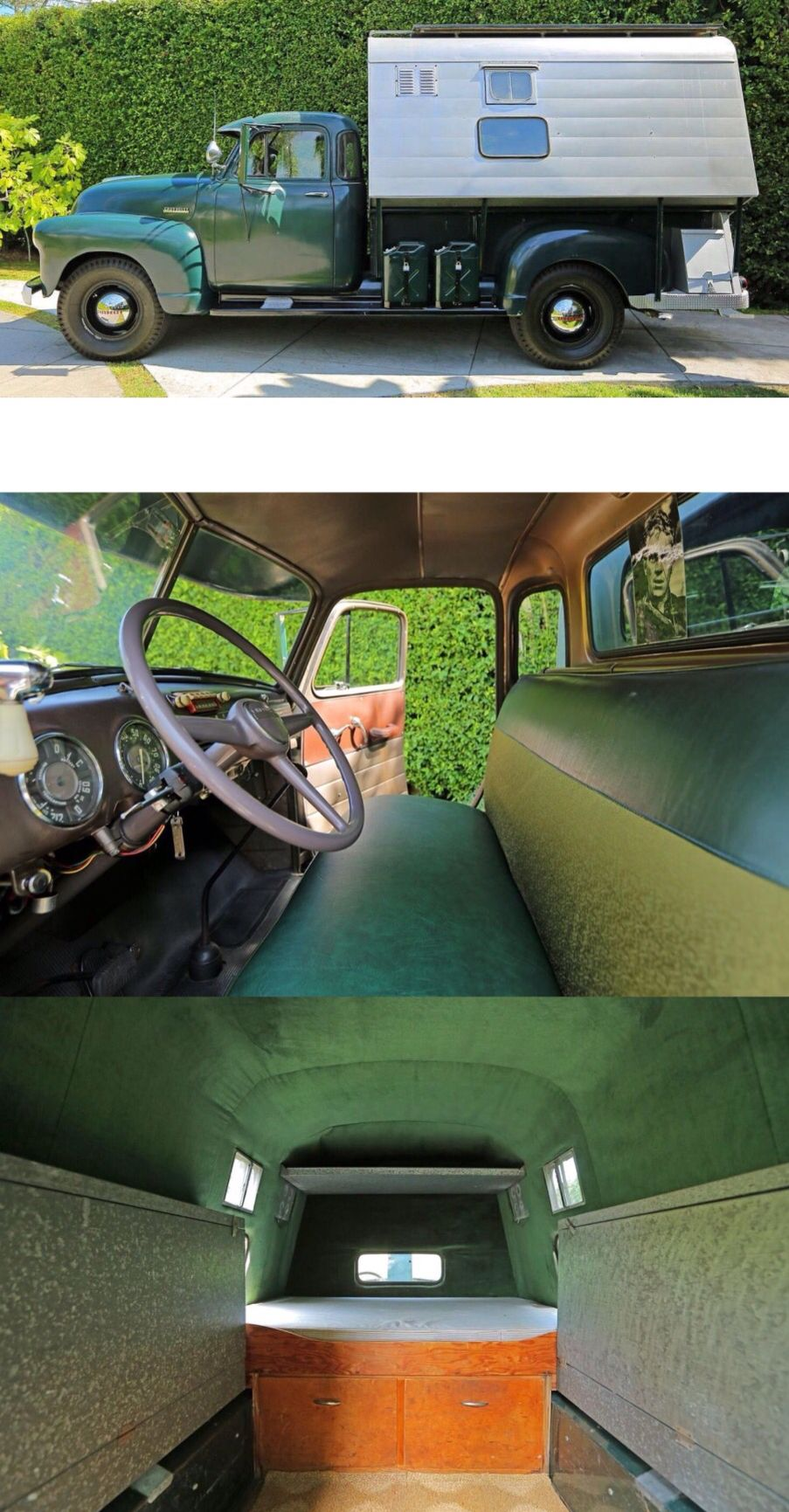 Santa Paula Chevy >> 1952 Chevy 1 Ton Pickup With A Custom Made Drop In Camper