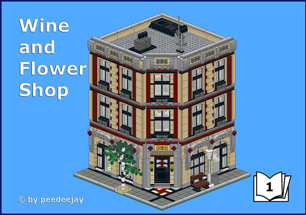 LEGO® MOC Modular Wine and Flower Shop Lego modular