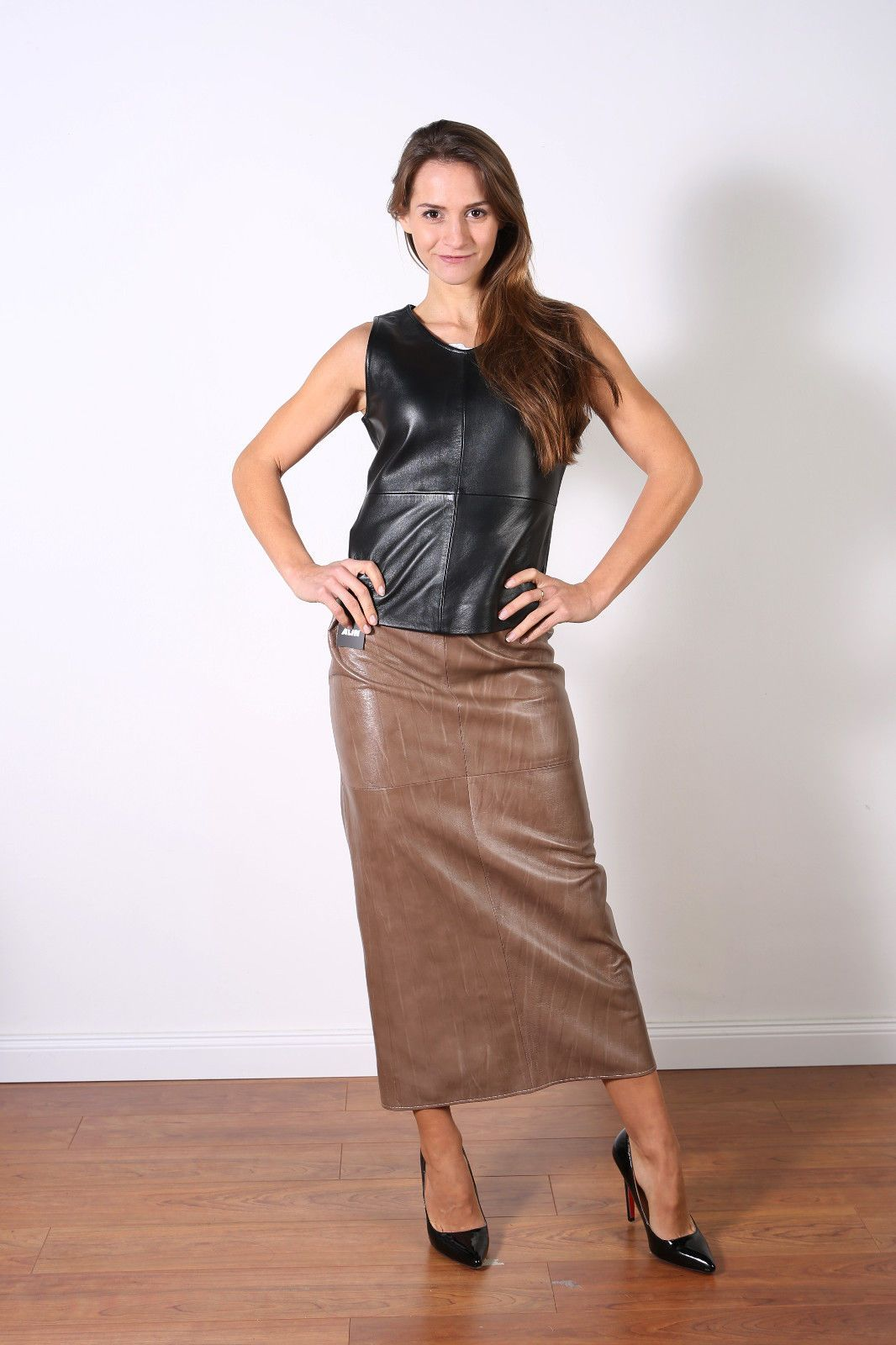 Lederkleid Braun Brown Leather Maxi Skirt Leather Dress In 2019 Leather Dresses