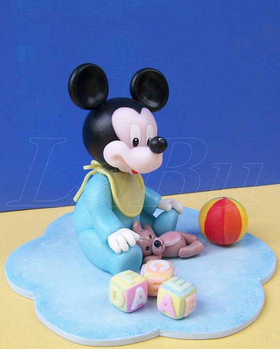 Cake Toppers Baby Mickey : Baby Mickey figurine M.M Lights/Ornaments Pinterest ...