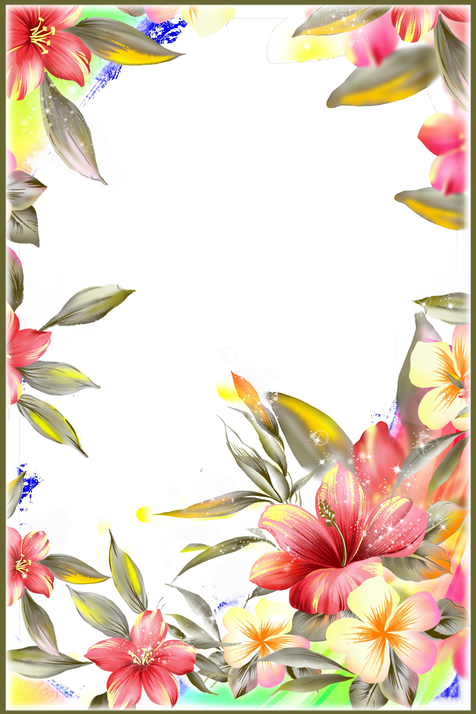 Открытку схема, картинки цветы по краю листа