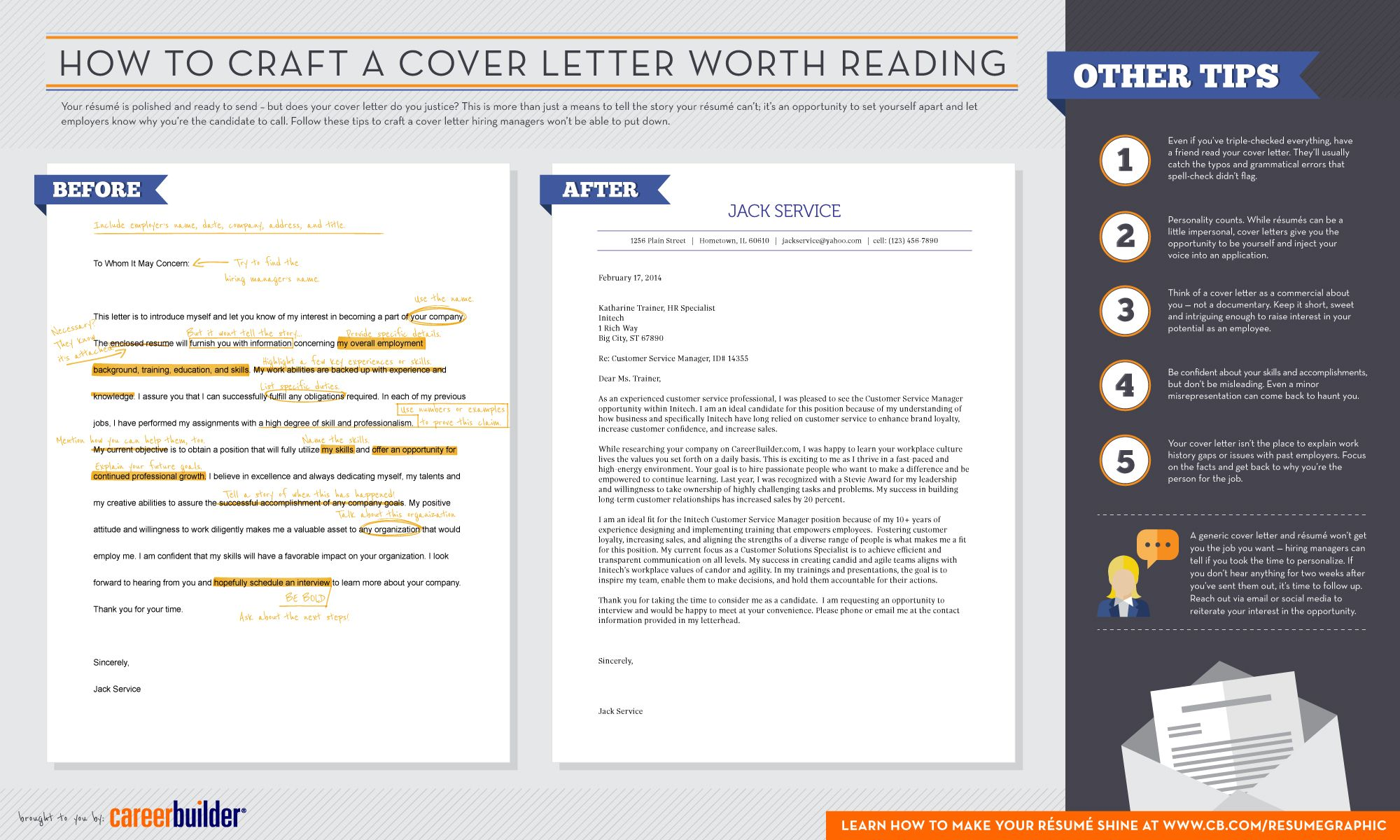 Tips For Cover Letters Cb's Newest Infographic How To Craft A Cover Letter Worth Reading