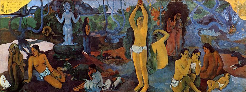 Paul Gauguin, Where do we come from? What are we? Where are we going?, 1897-98, oil on canvas, 139.1 x 374.6 cm (The Museum of Fine Arts, Boston)