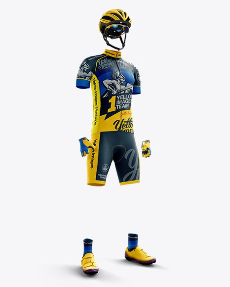 Download Full Men S Cycling Kit Mockup Front 3 4 View In Apparel Mockups On Yellow Images Object Mockups Cycling Kit Mockup Free Psd Mens Cycling
