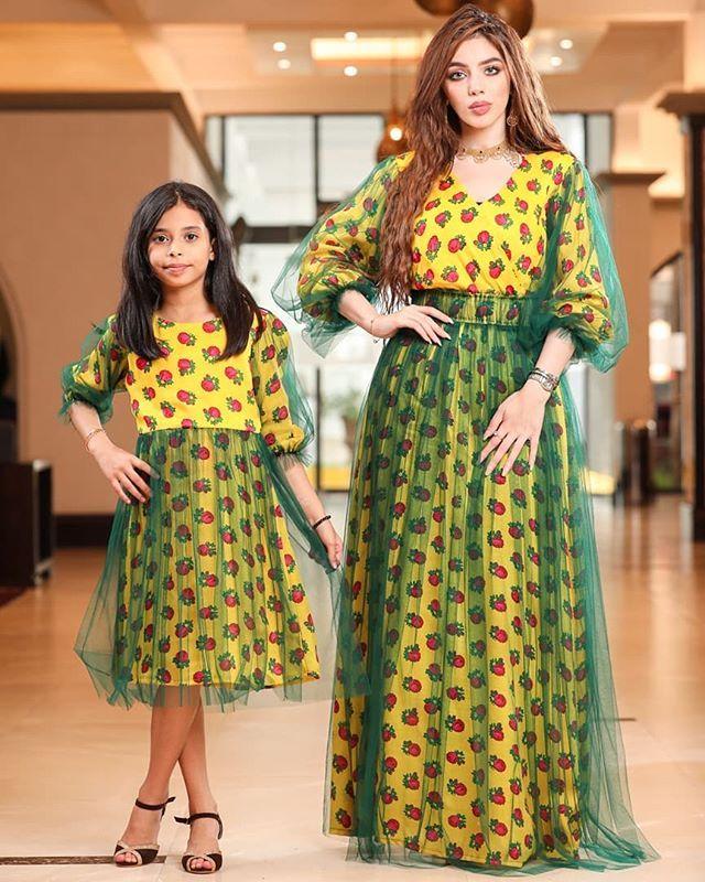 كولكشن القرقيعان للام والبنت فستان قطن مع تور الأم 230 درهم البنت 170 درهم حق البنت متوفر من عمر 4 سنو Modest Girls Dresses Fashion Dresses Muslim Fashion