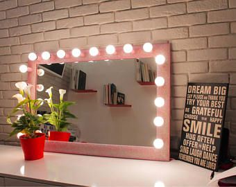 diy lighted makeup vanity. DIY Vanity Mirror With Lights For Bathroom And Makeup Station